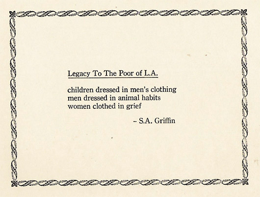 Legacy To The Poor Of L.A.