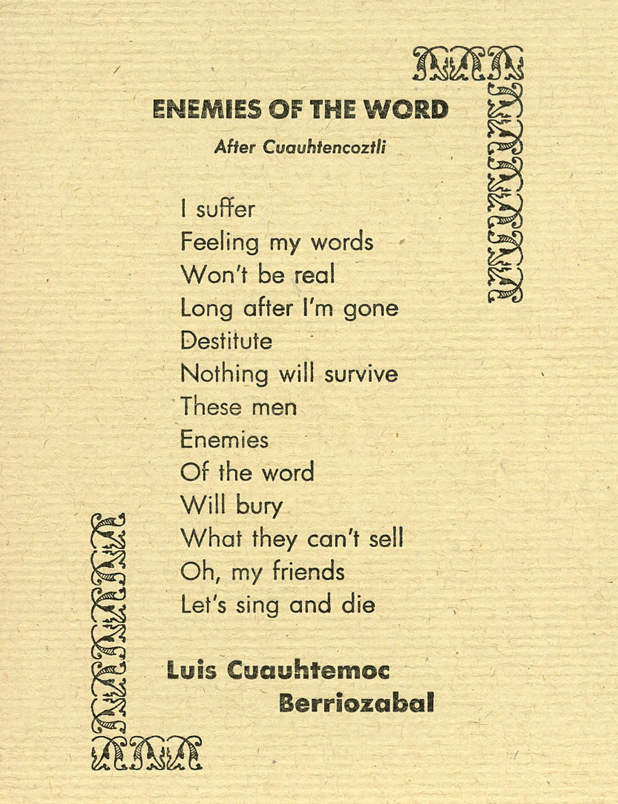 ENEMIES OF THE WORD