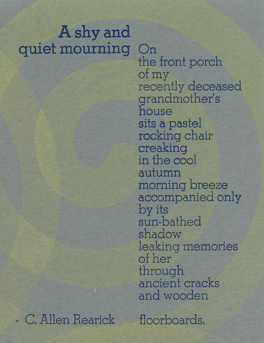 A shy and quiet mourning