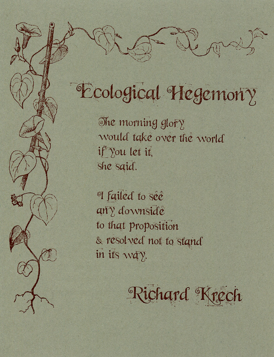 Ecological Hegemony