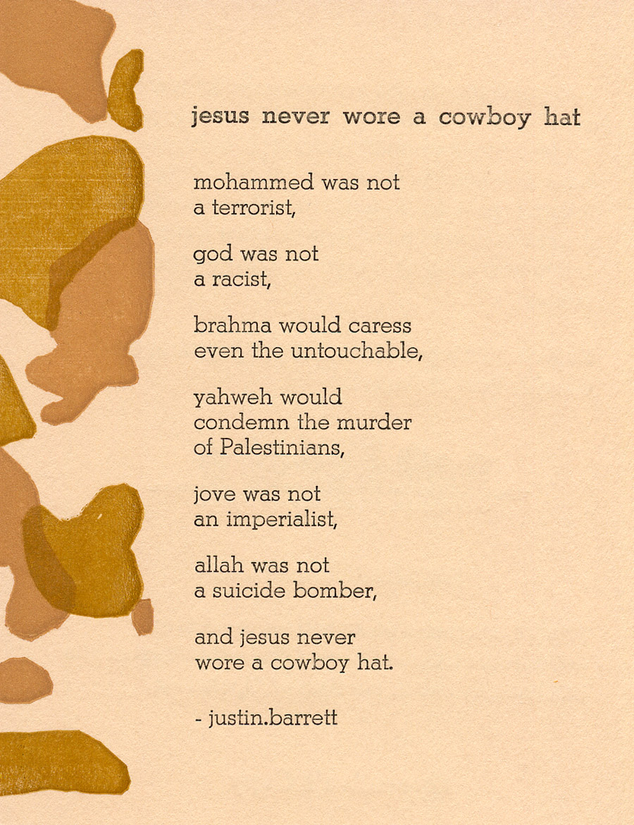 jesus never wore a cowboy hat
